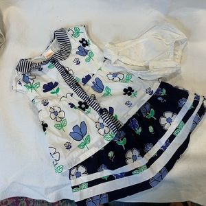 Gymboree tennis style skirt and blouse.